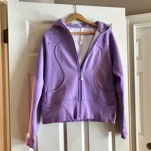 Lululemon Purple Fleece Scuba Jacket - Size 10
